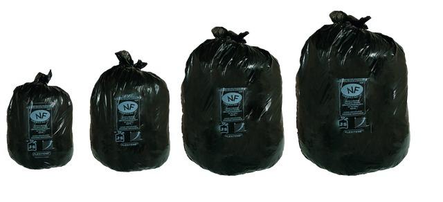 Des Sacs Poubelles Noirs : Paquet de sacs poubelle flexit?ne litres solexia